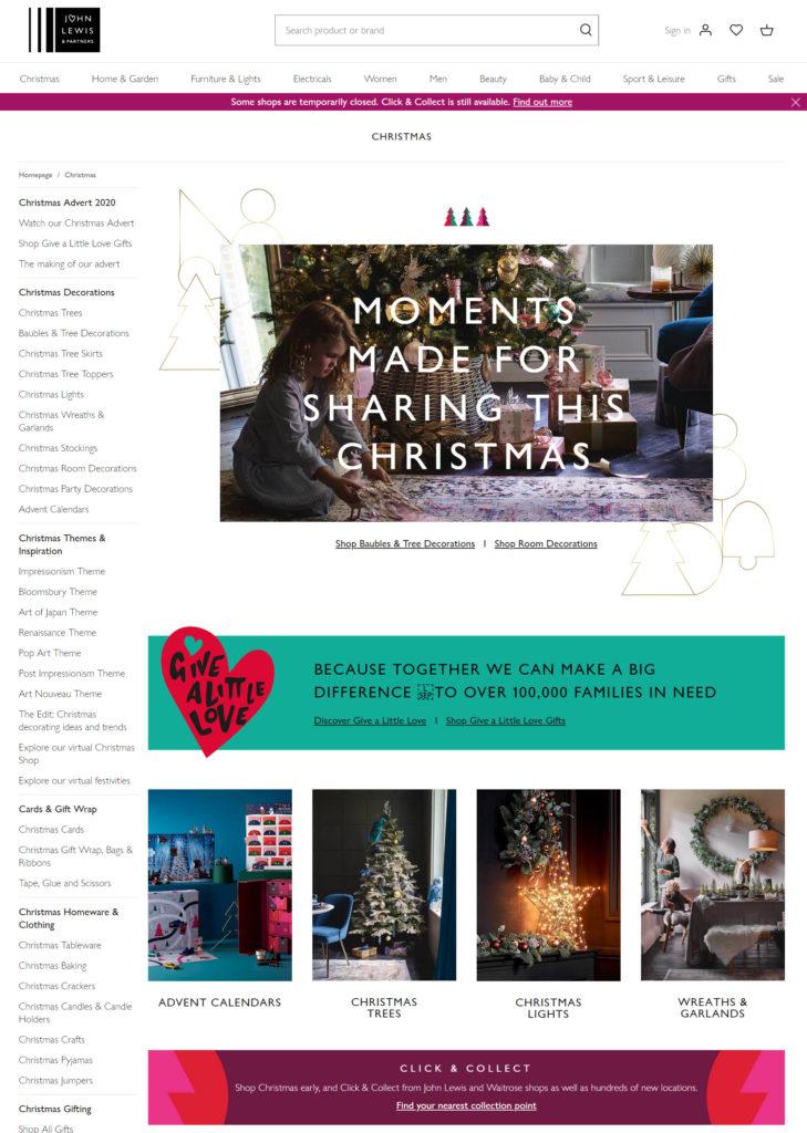 John Lewis - Christmas page